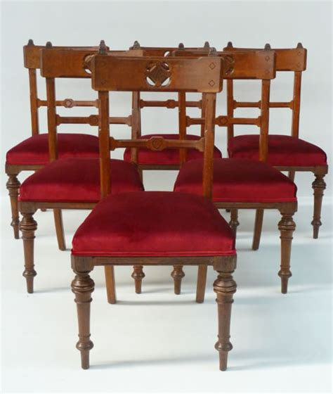 for sale set of 6 pitch pine dining chairs