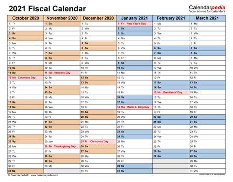 fiscal calendars   printable word templates