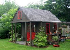 Back Yard Garden Sheds with Porch