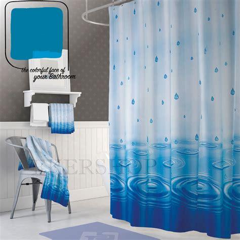 Duschvorhang Blau Weiß by Textil Duschvorhang 180x200 Regen Blau Weiss Wasser
