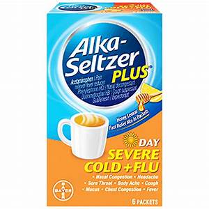 ALKA SELTZER PLUS DAY SEVERE COLD FLU HONEY LEMON 6ct ...