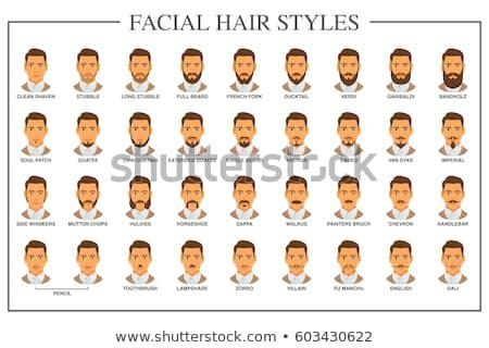 beard style guide facial hair types stock vector