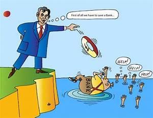 Saving Banks By Alexei Talimonov | Politics Cartoon | TOONPOOL