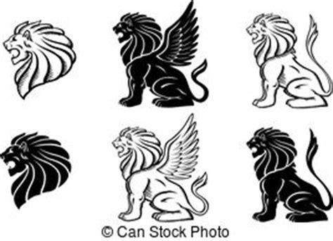 tatouage lion aile vecteurs eps rechercher des clip