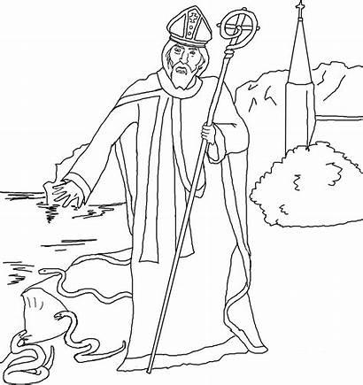 Coloring Patrick Saint Saints Printable Religious Sheets