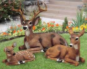 fawn baby deer outdoor garden statue animal lawn decor