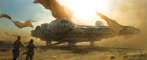Star Wars Millennium Falcon Wallpaper Star Wars The Force Awakens Millennium Falcon By Andreewallin On Deviantart