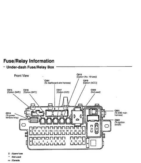 96 Integra Fuse Panel Diagram by Honda Civic Sol Fuse Box Diagrams Honda Tech
