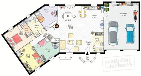 plan maison plain pied 3 chambre maison conviviale dé du plan de maison conviviale
