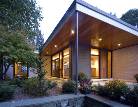 front entrance outdoor lighting shiplap siding exterior contemporary with brick wall mid