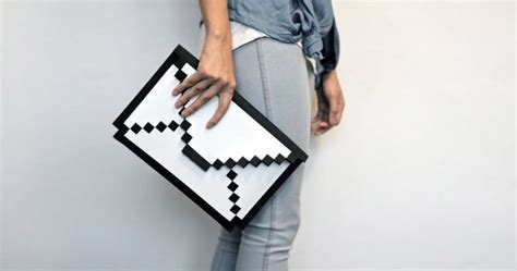 awesome design ideas  big big pixel clutch