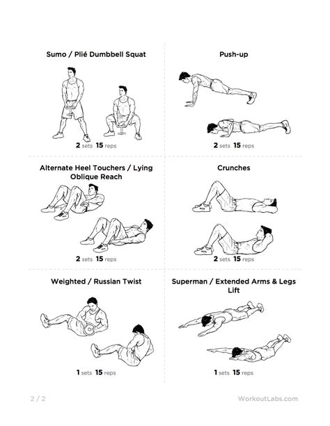 kettlebell printable workout body essential workouts plans