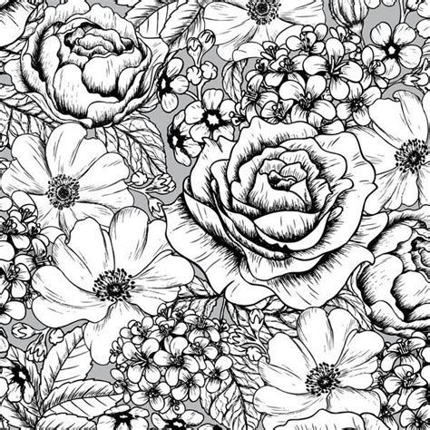 flower coloring books a page of gorgeous flowers from the gorgeous vintage