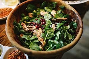 Spinat Als Salat : spinatsalat mit h hnchen und granatapfel alabaster blogzine ~ Orissabook.com Haus und Dekorationen
