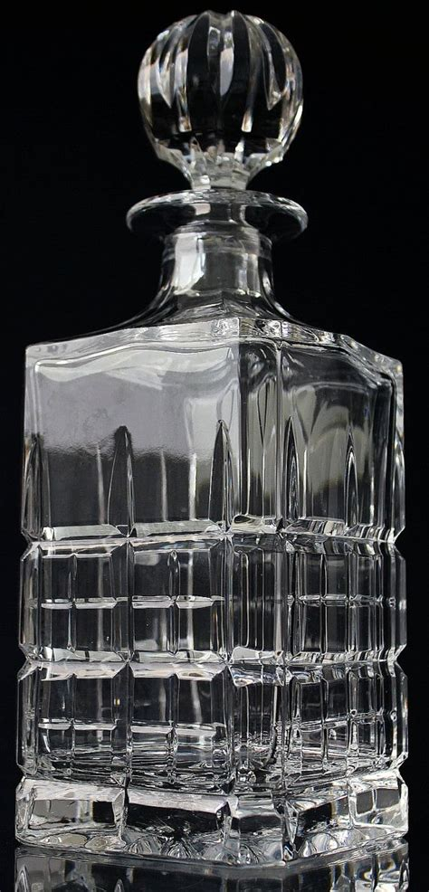 Whiskey Barware by Cut Whiskey Decanter Cut Glass Liquor Decanter
