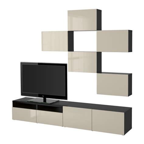 bestå combinaison meuble tv brun noir selsviken brillant