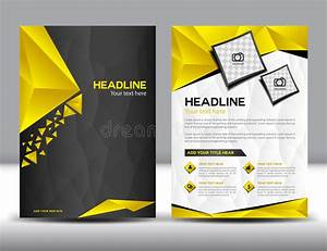Black And Yellow Business Brochure Flyer Design Layout