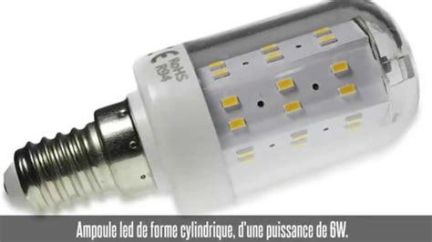 Ampoule Led E14, 6w, 180°, 48 Led, Blanc Chaud