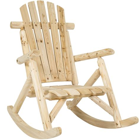 Tractor Supply Wooden Rocking Chairs by Best Choice Products Wood Log Rocking Chair Single Rocker