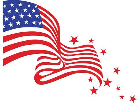 american flag ribbon clipart transparent background