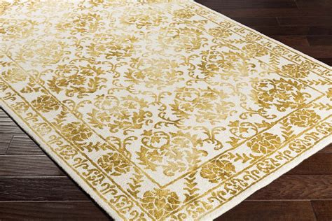 white and gold rug artistic weavers organic awog 2308 gold white rug