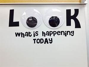 this is on the whiteboard in my classroom where i write With vinyl letters for whiteboard