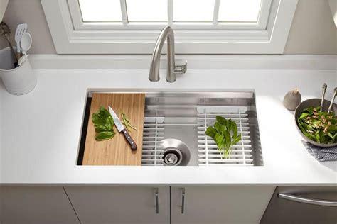 kitchen sink gadgets kohler prolific undermount kitchen sink kit 187 gadget flow 2721