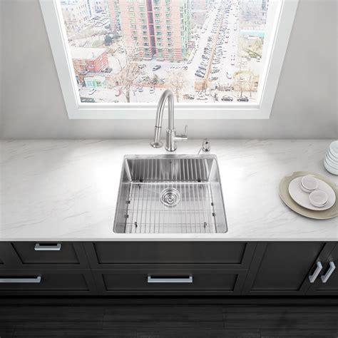 9 inch kitchen sinks vigo industries vgr2320c 23 inch undermount stainless 7386
