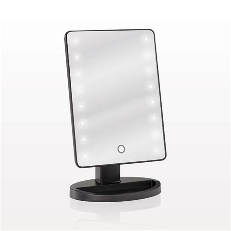 table top mirror with lights qosmedix led lighted table top cosmetic mirror