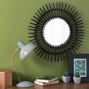 Miroir Rond 50 Cm : miroir rond en rotin noir d 50 cm kumpa maisons du monde ~ Dailycaller-alerts.com Idées de Décoration