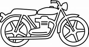 Motorcycle Clipart Black And White Simple - Clip Art Library