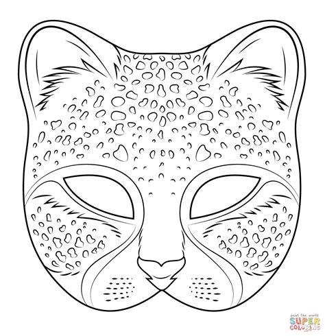 printable mask cheetah mask coloring page free printable coloring pages