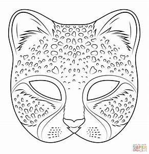 cheetah mask coloring page free printable coloring pages With cheetah face mask template