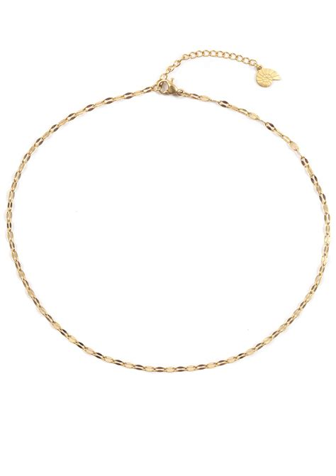 choker kette gold feine choker kette in gold happiness boutique