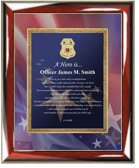 personalized police gifts police officer gifts  husband