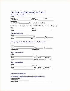 free personal information forms client data sheet for With client application form template
