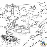 Rescue Coloring Pages Thomas Drawing Friends Island Water Train Helicopter Harbour Lifeboat Sea Captain Harold Sodor Colouring Tank Harbor Bulstrode sketch template
