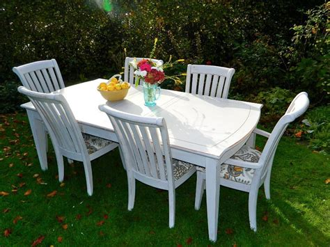 shabby chic dining table and 2 chairs beautiful large extending shabby chic dining table with 6 chairs 2 carvers in norwich