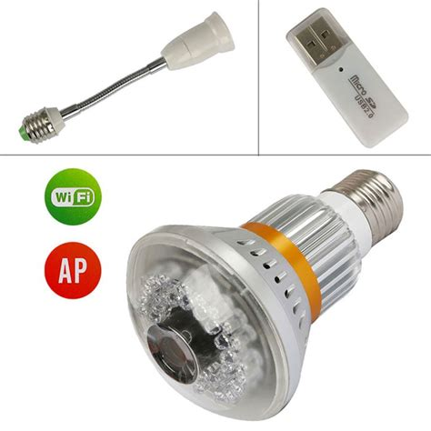 wireless bulb style ip w invisible ir light at