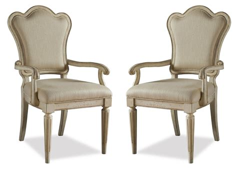 provenance upholstered back arm chair set of 2 from