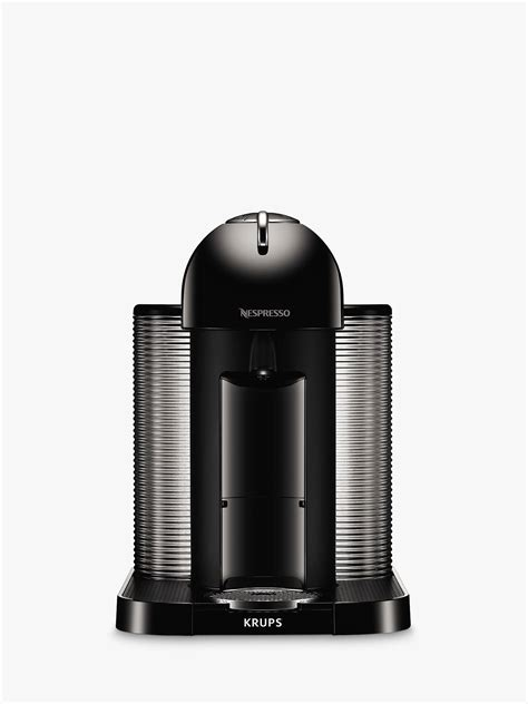 machine nespresso vertuo nespresso vertuo coffee machine by krups piano black at lewis partners