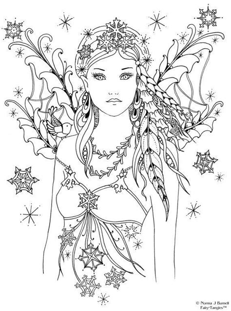 Beautiful Fantasy Fairy Coloring Page Also see the