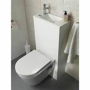 Lavabo Pour Toilette : pack wc lave mains suspendu duo castorama bathroom ~ Edinachiropracticcenter.com Idées de Décoration