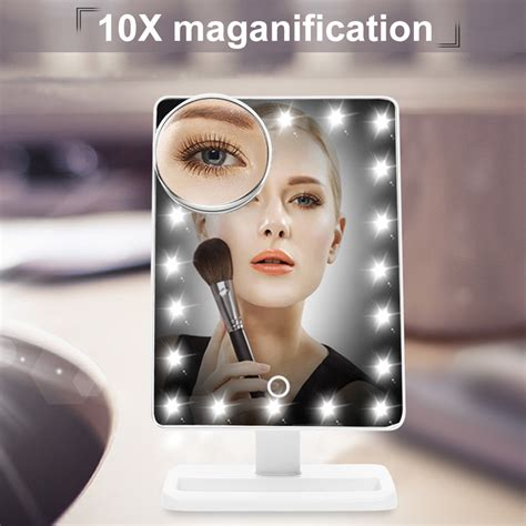 makeup light mirror portable 20led lighted make up cosmetic mirror adjustable