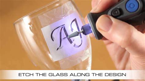 etch  wine glass   dremel micro youtube
