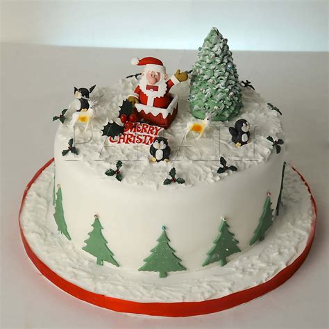 christmas cake decorations ideas and best wishes for holidays