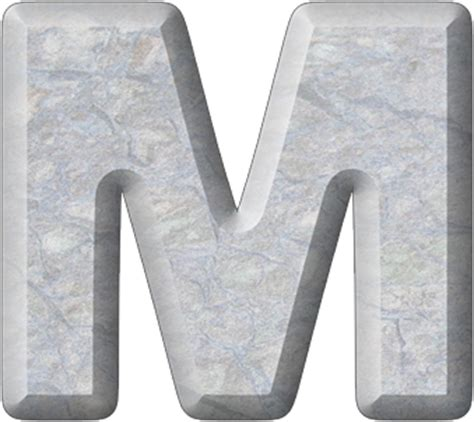 presentation alphabets letter m