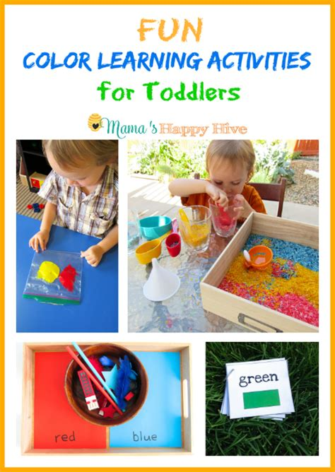 fall tree activities for preschoolers s happy hive 252 | Fun Color Learning Activities for Toddlers www.mamashappyhive.com