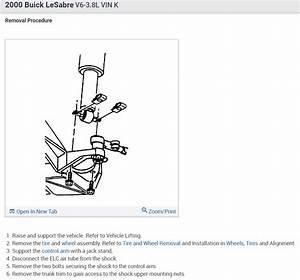 2000 Buick Lesabre Rear Suspension Diagram
