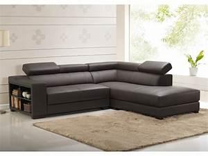 canape d39angle en cuir de vachette 5 coloris leeds With tapis chambre enfant avec grand canapé d angle cuir